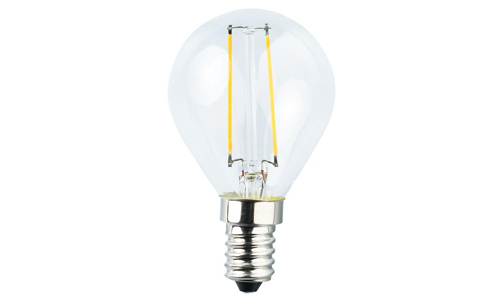 Klotlampa Klar 2500K E14240V 2W