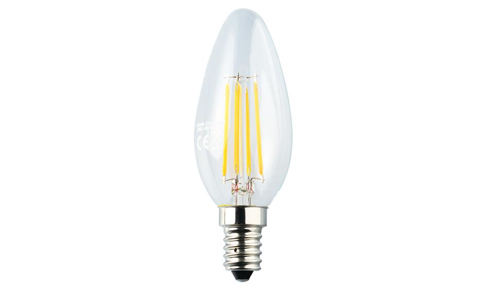 Kronljuslampa klar 2500K E14 240V 4W