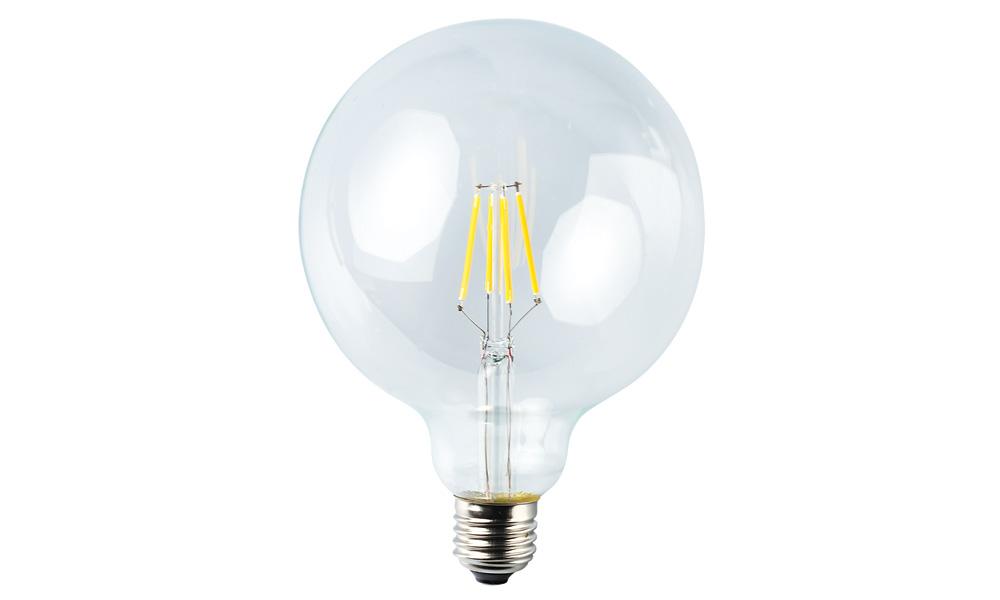 Globlampa 125mm klar 2500K E27240V 4W