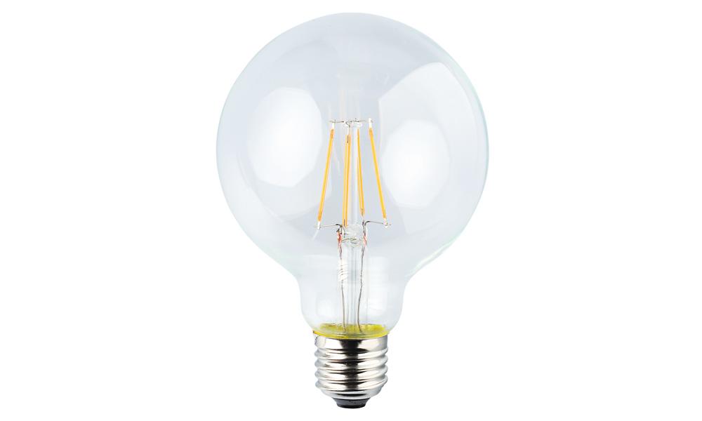 Globlampa 95mm klar 2500K E27240V 4W