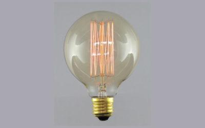 Globlampa 95mm Up&Down Gold E27 220-240V 22W