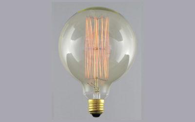 Globlampa 125mm Up&Down Gold E27 220-240V 33W