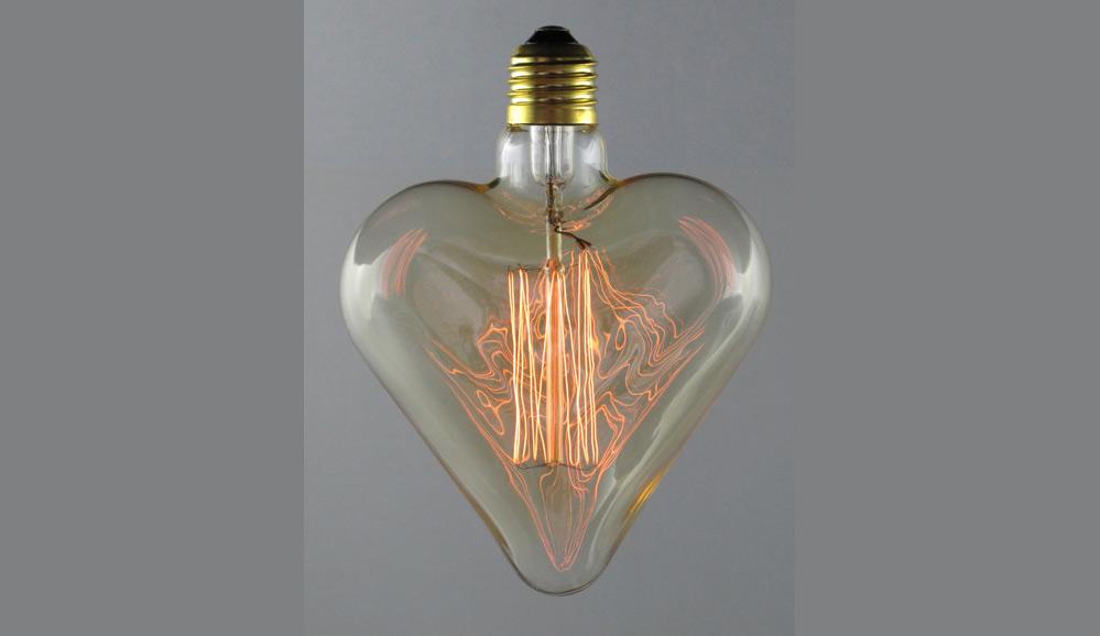 Hjärta Up&Down Gold E27220-240V 25W