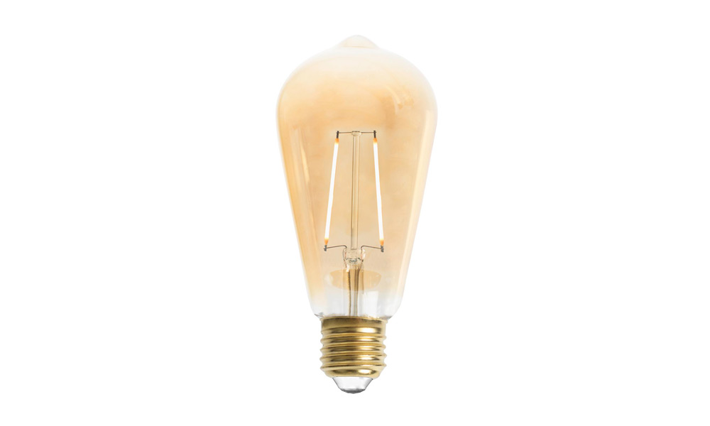 Edison ST64 LED 2L Gold E27 240V 2W