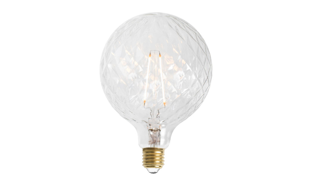 Glob Fasett LED 2L Klar E27240V 2W